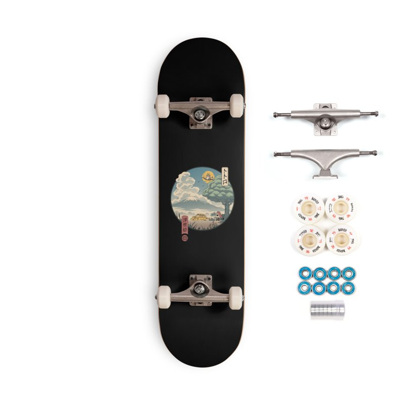 Neighbor's Ukiyo e Accessories Complete - Premium Skateboard by Vincent Trinidad Art