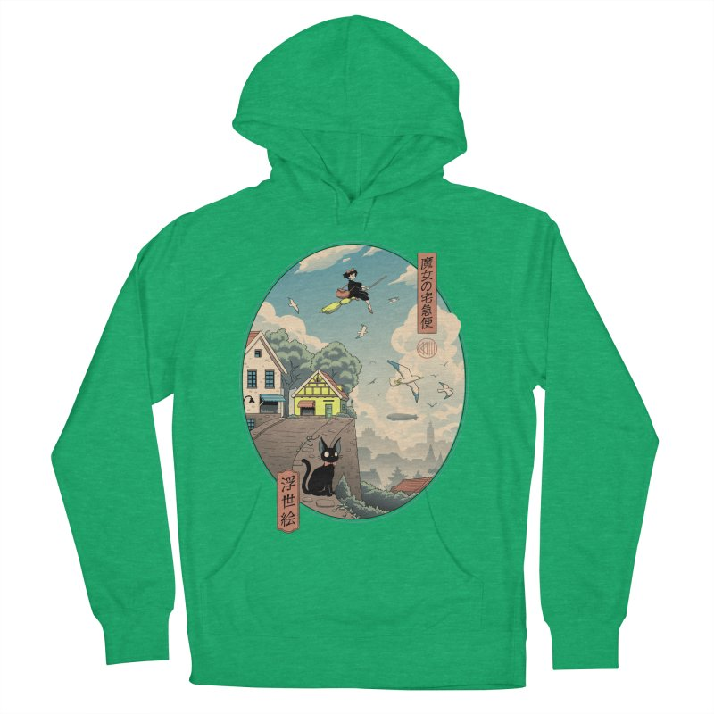 Ukiyo-e Delivery Men's French Terry Pullover Hoody by Vincent Trinidad Art