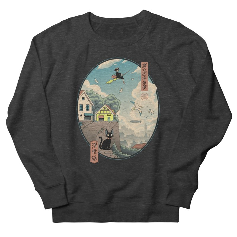 Ukiyo-e Delivery Men's French Terry Sweatshirt by Vincent Trinidad Art