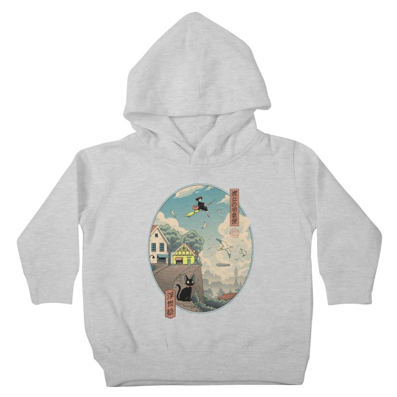 Ukiyo-e Delivery Kids Toddler Pullover Hoody by Vincent Trinidad Art
