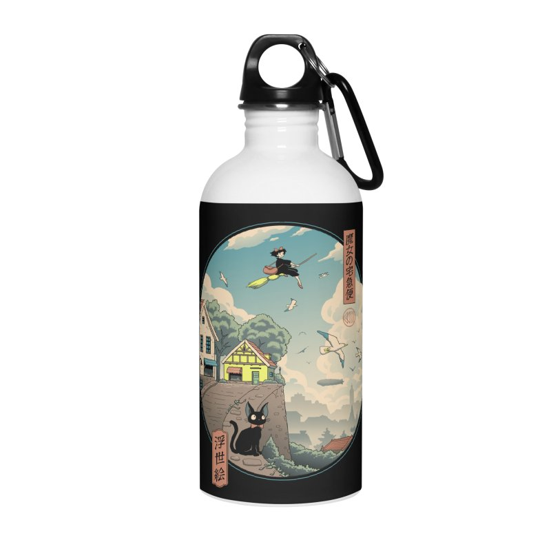 Ukiyo-e Delivery Accessories Water Bottle by Vincent Trinidad Art