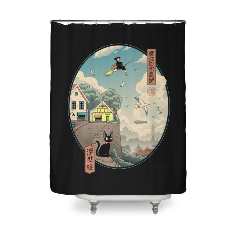 Ukiyo-e Delivery Home Shower Curtain by Vincent Trinidad Art