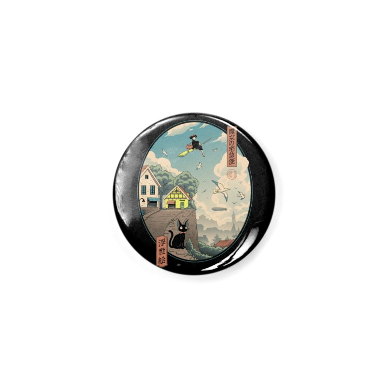 Ukiyo-e Delivery Accessories Button by Vincent Trinidad Art