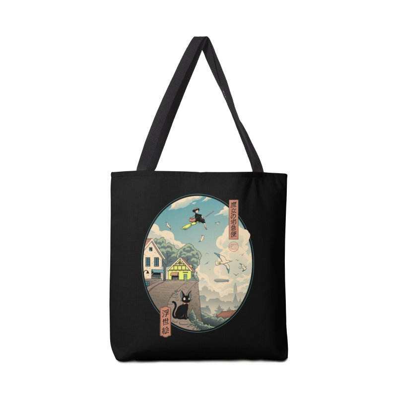 Ukiyo-e Delivery Accessories Tote Bag Bag by Vincent Trinidad Art