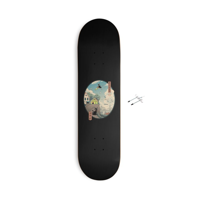 Ukiyo-e Delivery Accessories With Hanging Hardware Skateboard by Vincent Trinidad Art