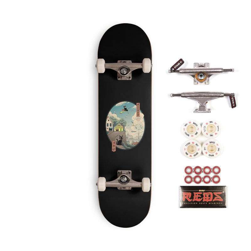 Ukiyo-e Delivery Accessories Complete - Pro Skateboard by Vincent Trinidad Art