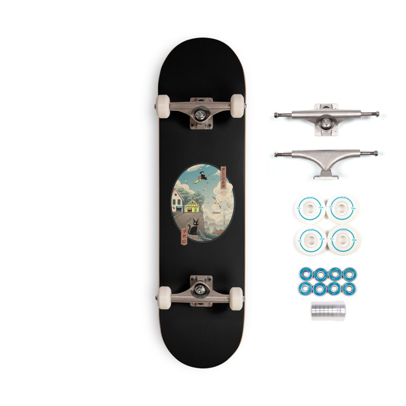 Ukiyo-e Delivery Accessories Complete - Basic Skateboard by Vincent Trinidad Art