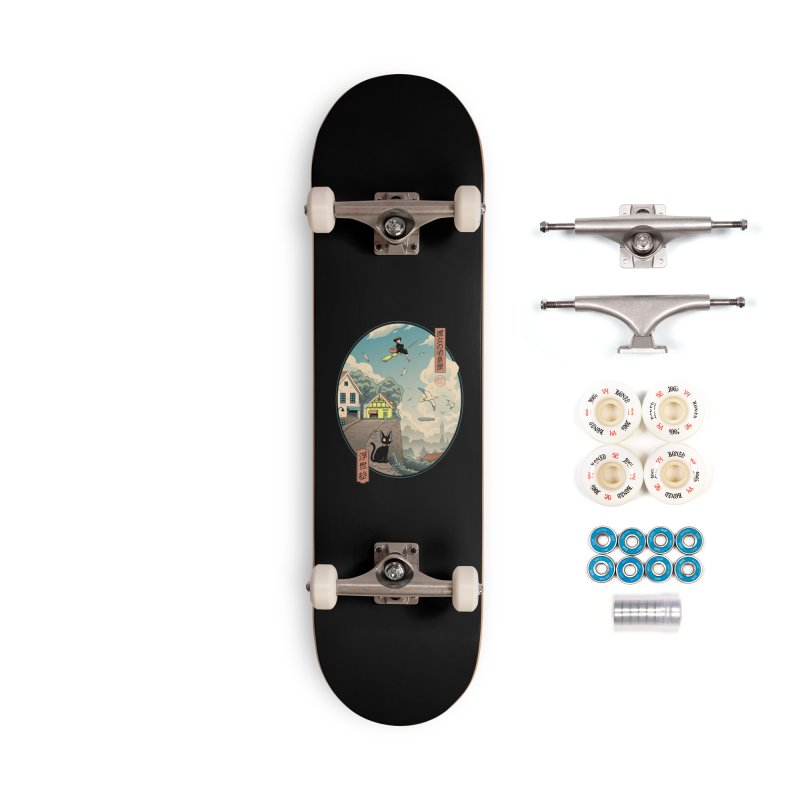Ukiyo-e Delivery Accessories Complete - Premium Skateboard by Vincent Trinidad Art