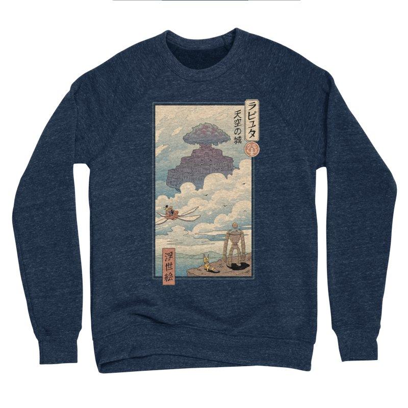 Sky Castle Ukiyo e Women's Sponge Fleece Sweatshirt by Vincent Trinidad Art