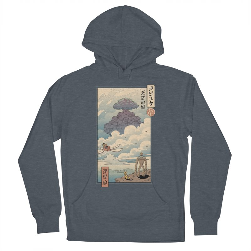 Sky Castle Ukiyo e Men's French Terry Pullover Hoody by Vincent Trinidad Art