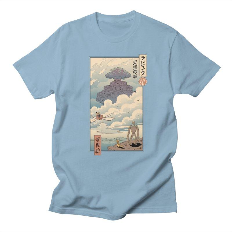 Sky Castle Ukiyo e Men's Regular T-Shirt by Vincent Trinidad Art