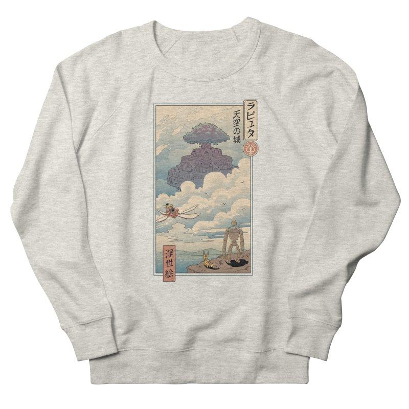 Sky Castle Ukiyo e Men's French Terry Sweatshirt by Vincent Trinidad Art