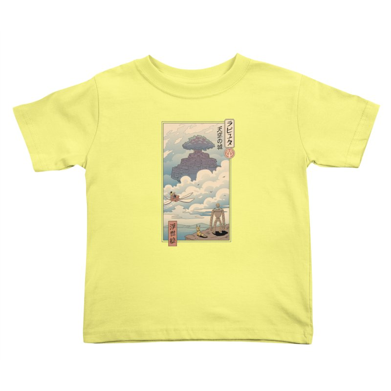 Sky Castle Ukiyo e Kids Toddler T-Shirt by Vincent Trinidad Art