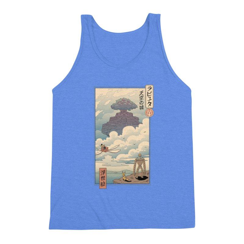 Sky Castle Ukiyo e Men's Triblend Tank by Vincent Trinidad Art