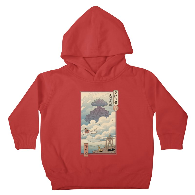 Sky Castle Ukiyo e Kids Toddler Pullover Hoody by Vincent Trinidad Art