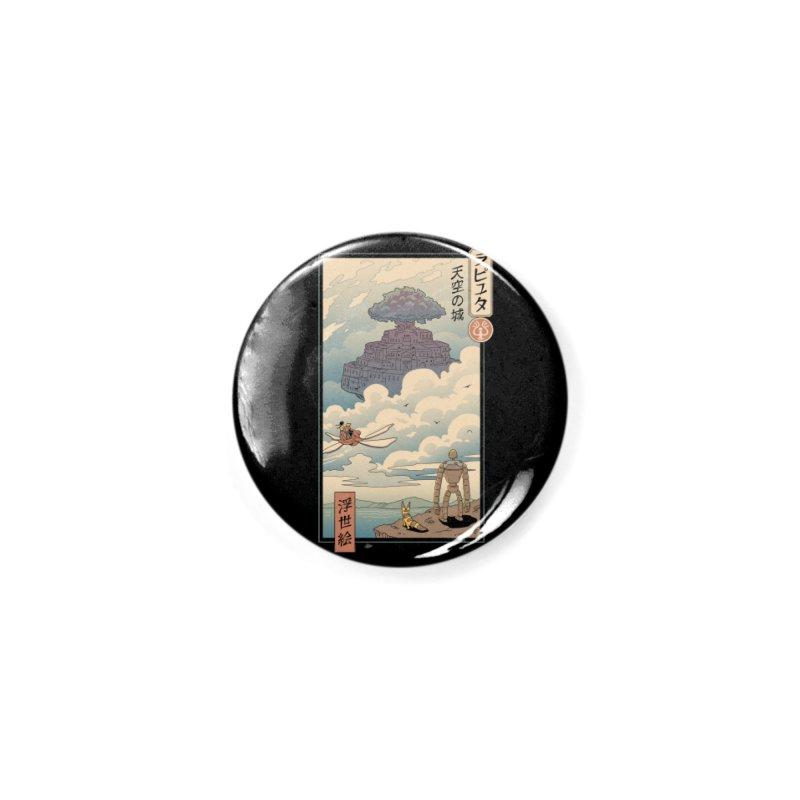 Sky Castle Ukiyo e Accessories Button by Vincent Trinidad Art