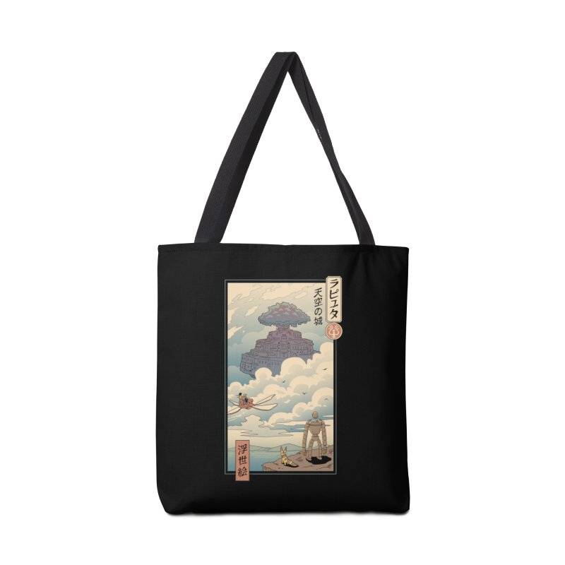 Sky Castle Ukiyo e Accessories Tote Bag Bag by Vincent Trinidad Art