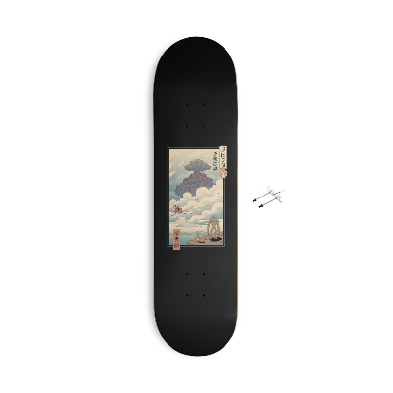 Sky Castle Ukiyo e Accessories With Hanging Hardware Skateboard by Vincent Trinidad Art