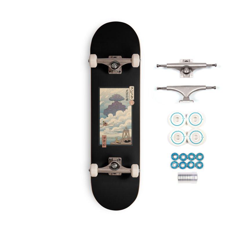 Sky Castle Ukiyo e Accessories Complete - Basic Skateboard by Vincent Trinidad Art