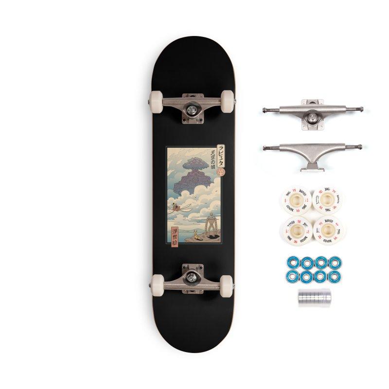 Sky Castle Ukiyo e Accessories Complete - Premium Skateboard by Vincent Trinidad Art