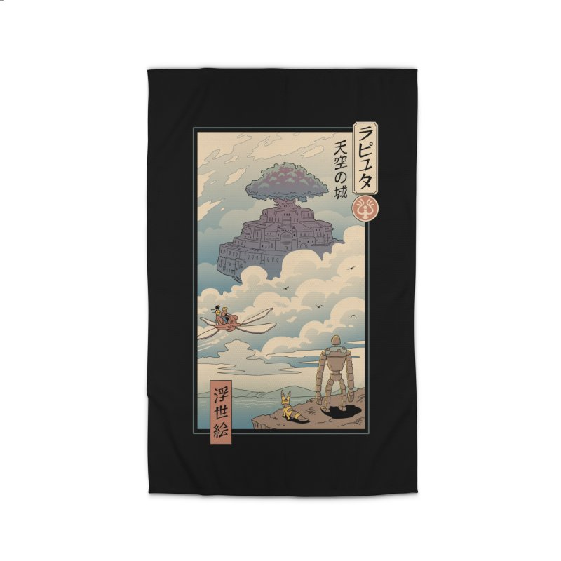 Sky Castle Ukiyo e Home Rug by Vincent Trinidad Art