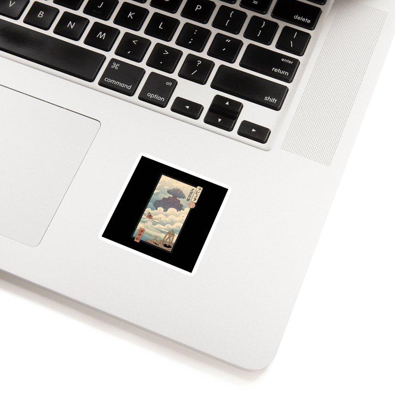 Sky Castle Ukiyo e Accessories Sticker by Vincent Trinidad Art