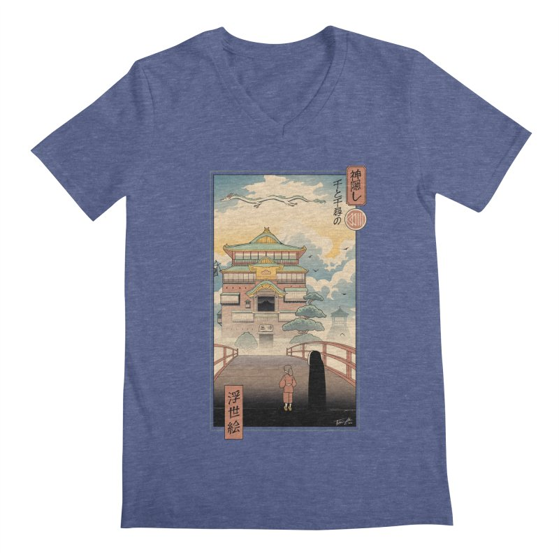 Ukiyo-e Spirits Men's Regular V-Neck by Vincent Trinidad Art