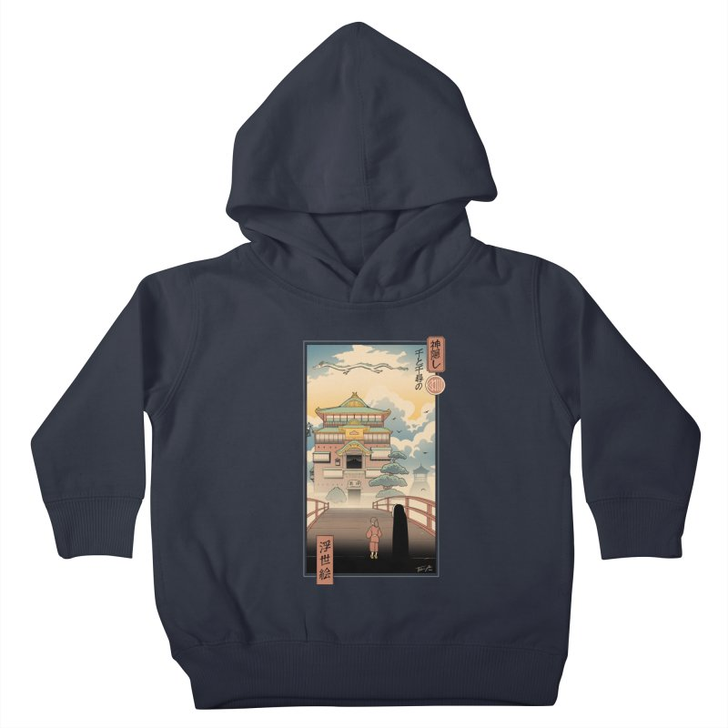 Ukiyo-e Spirits Kids Toddler Pullover Hoody by Vincent Trinidad Art