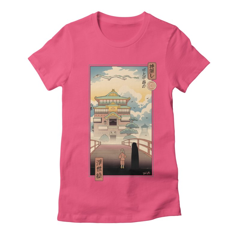 Ukiyo-e Spirits Women's Fitted T-Shirt by Vincent Trinidad Art