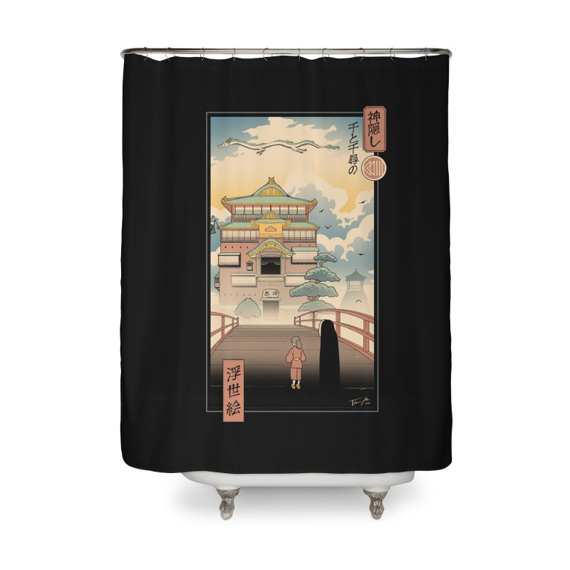 Ukiyo-e Spirits Home Shower Curtain by Vincent Trinidad Art