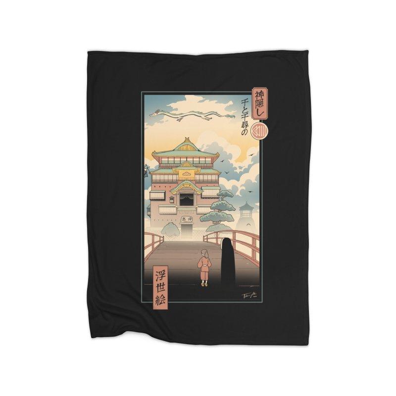 Ukiyo-e Spirits Home Fleece Blanket Blanket by Vincent Trinidad Art