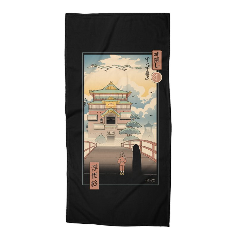 Ukiyo-e Spirits Accessories Beach Towel by Vincent Trinidad Art