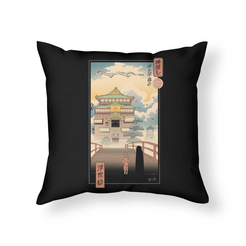Ukiyo-e Spirits Home Throw Pillow by Vincent Trinidad Art