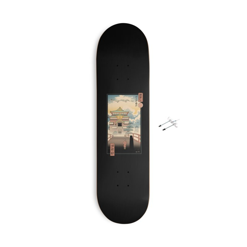 Ukiyo-e Spirits Accessories With Hanging Hardware Skateboard by Vincent Trinidad Art