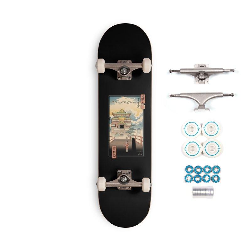 Ukiyo-e Spirits Accessories Complete - Basic Skateboard by Vincent Trinidad Art