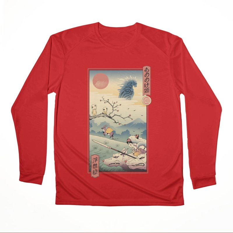 Wolf Princess Ukiyo e Women's Performance Unisex Longsleeve T-Shirt by Vincent Trinidad Art