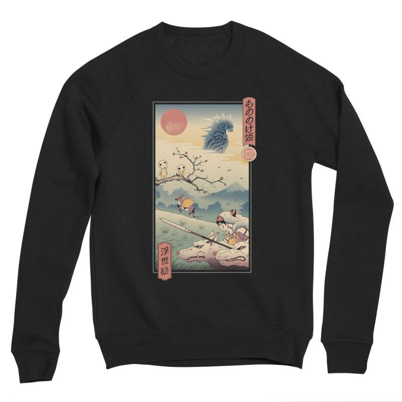 Wolf Princess Ukiyo e Women's Sponge Fleece Sweatshirt by Vincent Trinidad Art