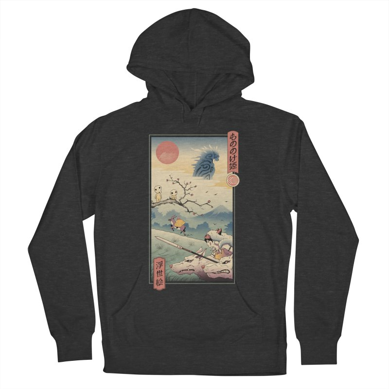 Wolf Princess Ukiyo e Men's French Terry Pullover Hoody by Vincent Trinidad Art