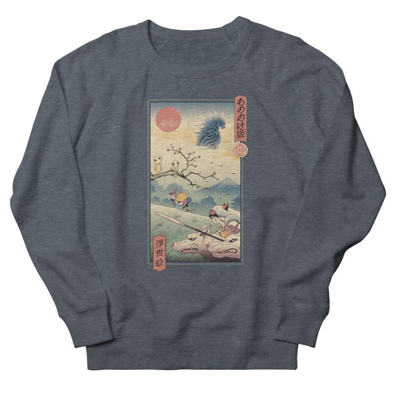 Wolf Princess Ukiyo e Men's French Terry Sweatshirt by Vincent Trinidad Art