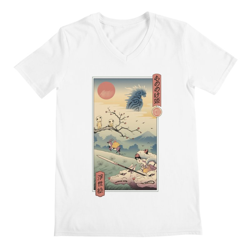 Wolf Princess Ukiyo e Men's Regular V-Neck by Vincent Trinidad Art