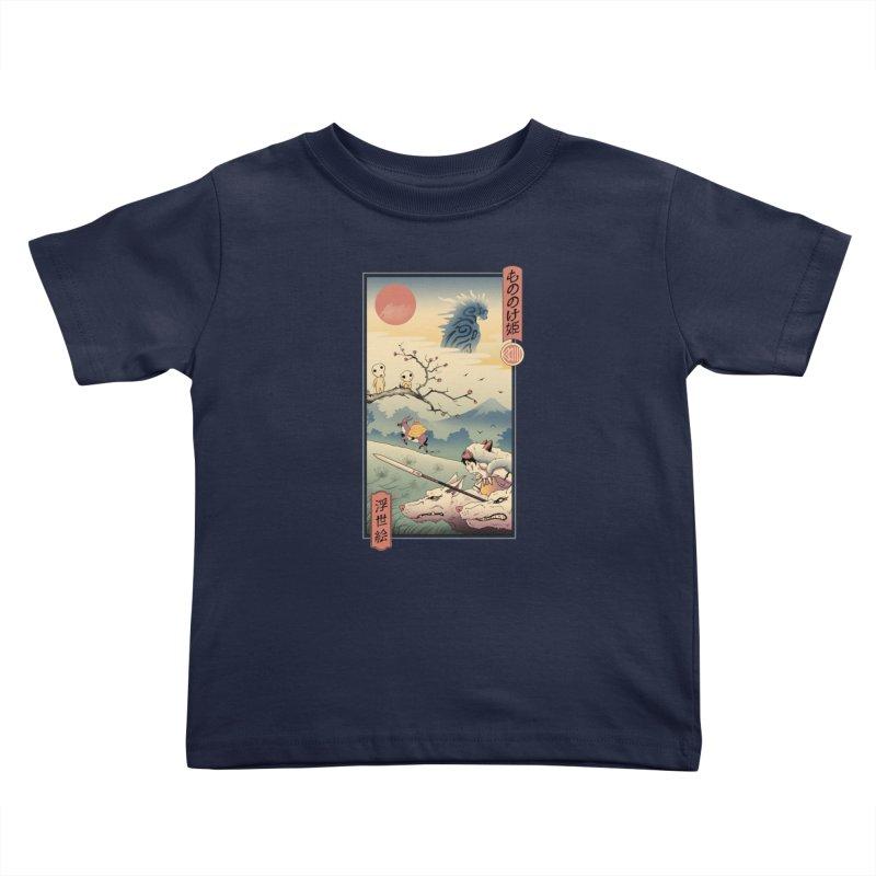 Wolf Princess Ukiyo e Kids Toddler T-Shirt by Vincent Trinidad Art