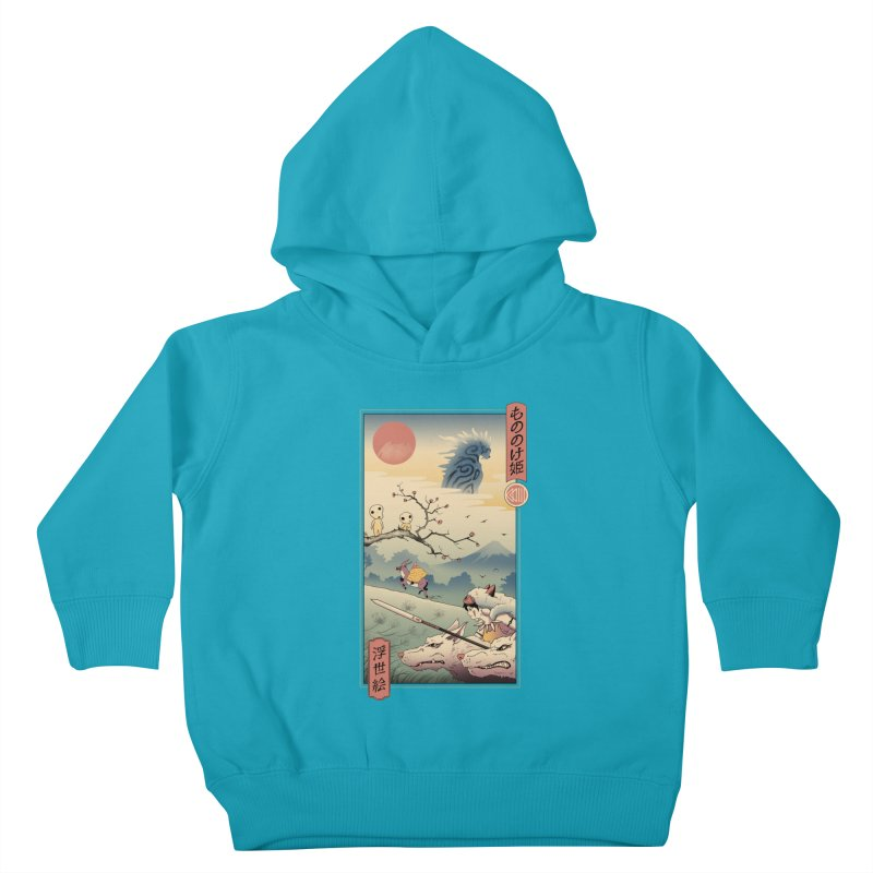 Wolf Princess Ukiyo e Kids Toddler Pullover Hoody by Vincent Trinidad Art