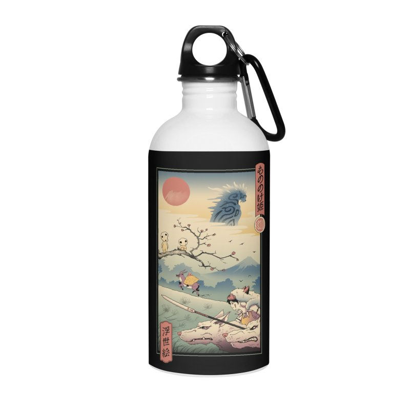 Wolf Princess Ukiyo e Accessories Water Bottle by Vincent Trinidad Art