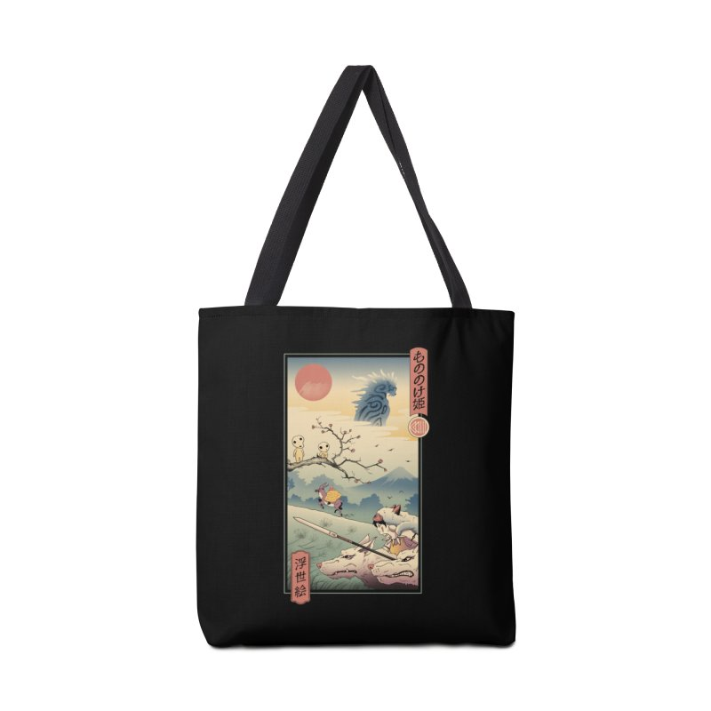 Wolf Princess Ukiyo e Accessories Tote Bag Bag by Vincent Trinidad Art