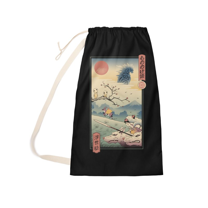 Wolf Princess Ukiyo e Accessories Laundry Bag Bag by Vincent Trinidad Art