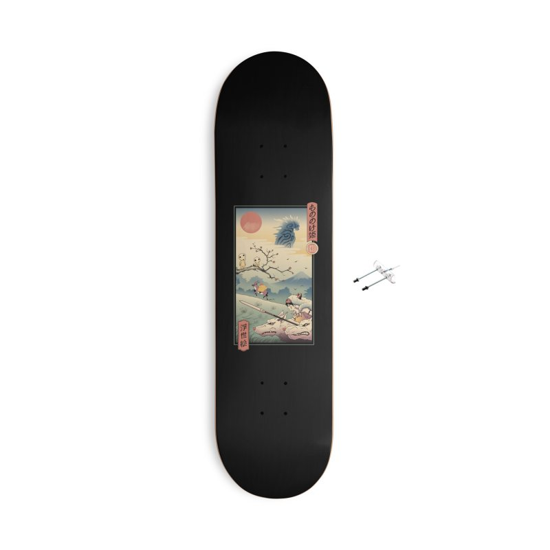 Wolf Princess Ukiyo e Accessories With Hanging Hardware Skateboard by Vincent Trinidad Art