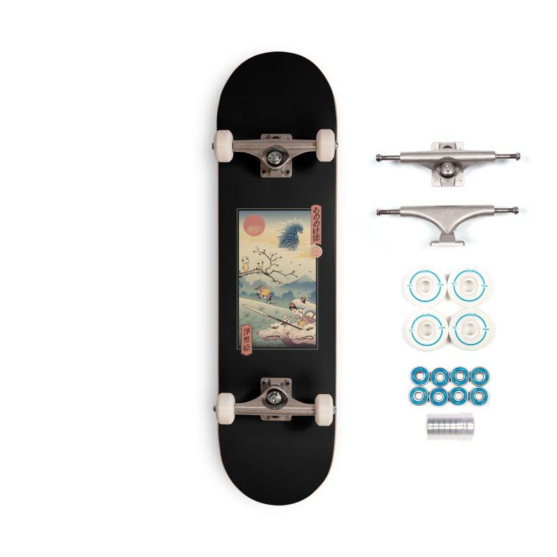 Wolf Princess Ukiyo e Accessories Complete - Basic Skateboard by Vincent Trinidad Art