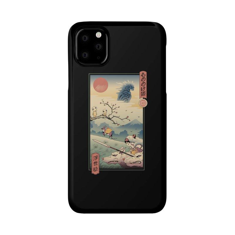 Wolf Princess Ukiyo e Accessories Phone Case by Vincent Trinidad Art