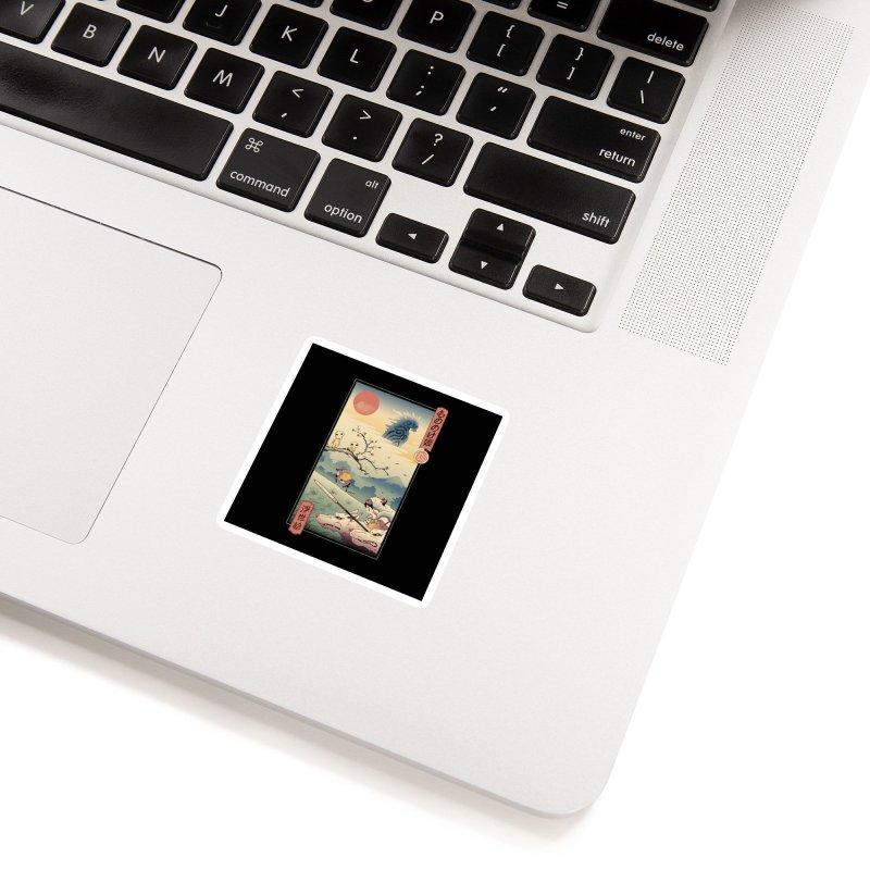 Wolf Princess Ukiyo e Accessories Sticker by Vincent Trinidad Art