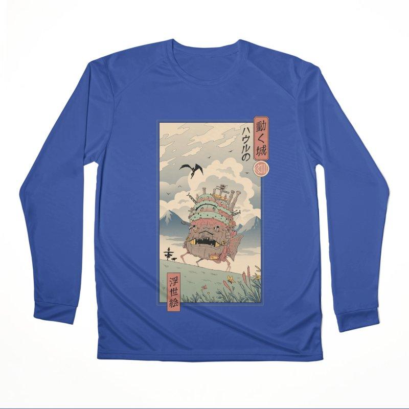 Moving Castle Ukiyo e Women's Performance Unisex Longsleeve T-Shirt by Vincent Trinidad Art